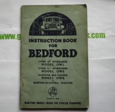 Bedford.OWL,OWS,OWB. Instruction book.